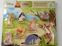 Disney Melissa and Doug, Winnie The Pooh Wooden Chunky Puzzle For Ages 2+   New