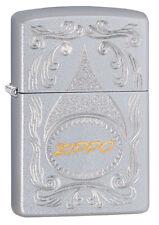 ZIPPO LIGHTER 205 AUTO TWO TONE (92233) GIFT BOXED - AU STOCK !