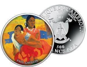 """Cameroun 2017 500 Francs"""" Paul Gauguin  When Will You Merry """" Silver 555+ COA"""