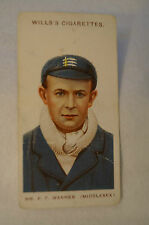 1908 Vintage Wills Cricket Card - P.F. Warner - Middlesex.