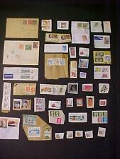 OLD VINTAGE MIXED WORLD STAMPED CARDS POSTCARDS STAMPS ANTIQUE STAMP LOT 1922++