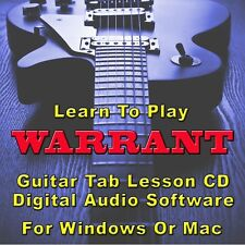 WARRANT Guitar Tab Lesson CD Software - 32 Songs