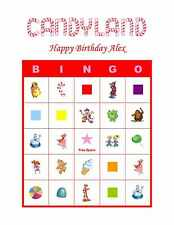 Candyland or Candyland Vintage Birthday Party Game Bingo Cards