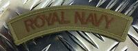 Genuine British MoD 'RN - ROYAL NAVY' Shoulder Patch / Badge x 2 - Brand NEW