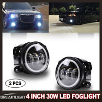 LED Halo Ring Daytime Running Lights/Fog Lamps w/ Wiring For 11-14 Dodge Charger