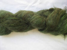 100gm Brushed Mohair Designer Hand-dyed Yarn Earthy Olive Green  Knitting 170m