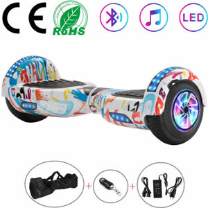 "Hoverboard 6,5"" Blanco Patinetes eléctricos Bluetooth LED 2 ruedas luces+BOLSA"