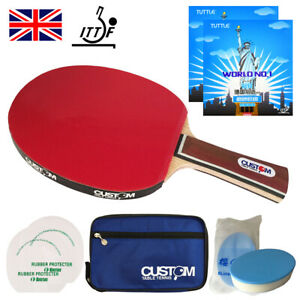 Custom Table Tennis Carbon Professional Table Tennis Bat World No.1 Rubbers UK