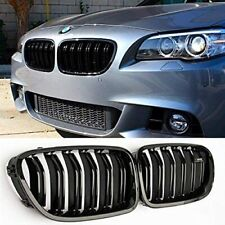 Front Kidney Grille Grill For 2010-2016 BMW F10 528i 535i 550i M5(Gloss Black)