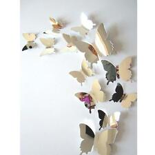 12pcs 3D Decal Butterflies Mirror Wall Mural Art Room Home Decors Wall Stickers