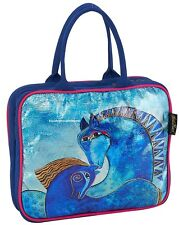 Laurel Burch Teal Mares Horse Foiled Large Travel Organizer Bag Makeup Fall 2017