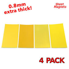 200mm x 100mm Yellow Coloured Magnetic Labels 0.8mm | 4 Pack | Ref.59144