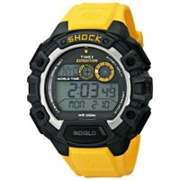 Timex Men's Expedition Global World Time Shock Chronograph 48mm Watch - Yellow