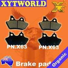 Harley Davidson XLH883C XLH 883 C Sportster Custom Brake Pads FRONT REAR 2000-01