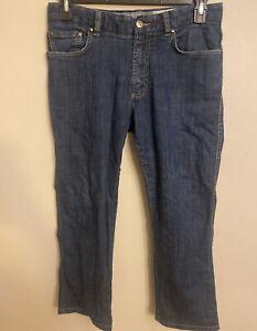 Men's Zegna Sport Denim Slim Fit Blue Jeans Sz 33 Slightly Tapered Cotton Used