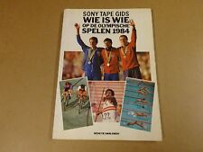 BOEK / WIE IS WIE OP DE OLYMPISCHE SPELEN 1984