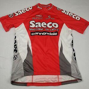 Saeco Cycling Jersey Radtrikot Bicycle Jersey Shirt Cannondale Men's Sz Large