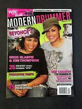 Modern Drummer Magazine  February 2007 Nikki Gaspie and Kim Thompson