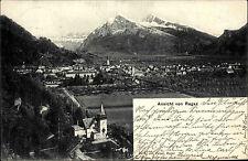 Bad Ragaz Schweiz St. Gallen 1904 Panorama Totale Gesamtansicht Stadt Berge Tal