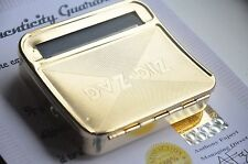 Automatic Tobacco Cigar Roller Rolling Machine Cigarette Case 24k Gold Plated