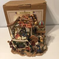 2001 Grandeur Silent Night Musical Water Globe Nativity Noel Christmas