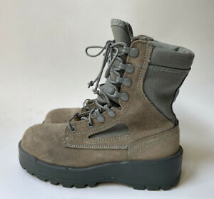 Wellco Air Force TW Boots Women's Combat Military Suede Vibram Sage Green Size 5