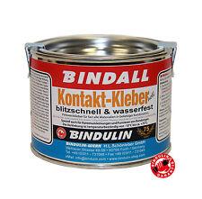 Bindulin KontaktKleber Klebstoff BINDALL Neopren Leder Filz Gummi Holz Glas 350G