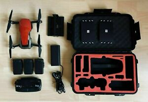 DJI Mavic Air Fly More Combo Drone - Red + Case + Accessories 20H Fly Time