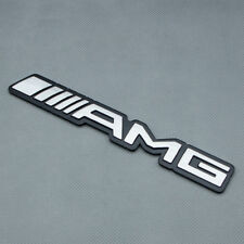 Silver AMG Logo Rear Tailagte Trunk Metal Badge Emblem For C E A S SL SLK CLASS