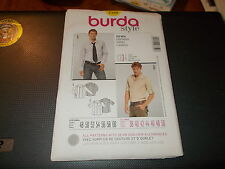 Burda STYLE Pattern 7359 Men's Button Front Shirt w/Options & Seam Detail 38-50