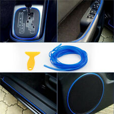5M Blue Flexible Car Styling Interior Panel Molding Trim Strip Gap Filler Line