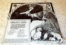 JED Merlin's Song Jed O'Connor 1982 LP August Records NR14398 Partial Shrinkwrap