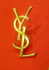 Broche Pin's logo YSL vintage YVES SAINT LAURENT
