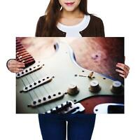 A2 | Electric Guitar Music Instrument Size A2 Poster Print Photo Art Gift #8326