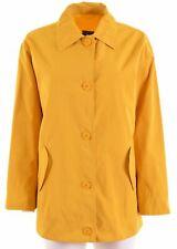 MARINA YACHTING Womens Overjacket IT 44 Medium Yellow Cotton Oversized DM03