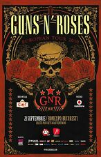 GUNS N ROSES - 2010 EUROPEAN TOUR POSTER  PRINT ARTWORK- SLASH - AXL ROSE -DUFF