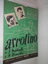 ARROTINO SUCCESSO RADIOFONICO ORCHESTRA ANGELINI E DEL CANTANTE ACHILLE TOGLIANI