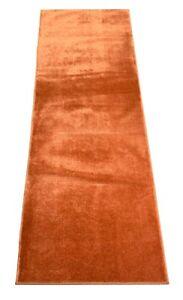 "Custom Size Runner Rug Solid Burnt Orange Customize Rug 26, 30 or 36"" Width"