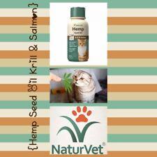 🐾NaturVet Hemp Seed Oil, Krill & Salmon for Cats 8 fl. oz. Exp.11/20 {New}🐾