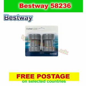 Bestway 58236 Flowclear hose adapter, for 38mm hoses, to 32mm connections