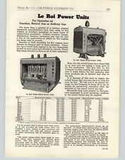 1943 PAPER AD Leroi La Roi Gasoline Gas Natural Gas Electric Power Generator
