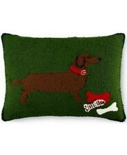Martha Stewart Front Pile Dacshund Decorative Pillow 16inx20in, Holiday - New