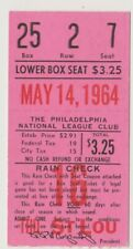 "PHILADELPHIA PHILLIES ""PHOLD"" TICKET STUB VS. CARDINALS 5/14/64 ALLEN CALLISON"