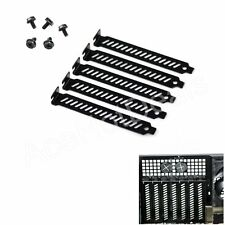 5pcs New Black PCI Slot Cover Dust Filter Blanking Plate Hard Steel w/screws