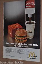 1975 McDonalds advertisement, McDONALD'S Big Mac, Coca-Cola dispenser