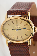 Vintage Bucherer $3500 18k Yellow Gold MIDSIZE Mens or Ladies Watch WARRANTY