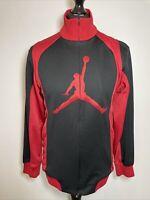 Nike Air Jordan Jumpman Black Red Retro Track Tracksuit Trackie Zip Top Jacket M