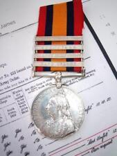 Victorian British Boer War QSA medal 4bar Trooper H James 67th I Y Sharpshooter