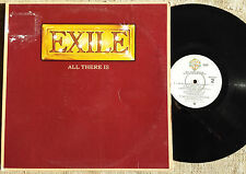 Exile  ‎– All There Is - -  LP  : Warner Bros. Records ‎– BSK 3323