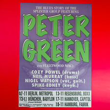 Peter Green'S Splinter Group 1997 Original 23.25 x 33.5 Concert Promo Poster. De